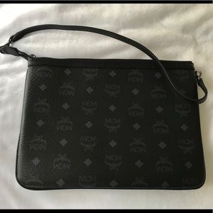 Authentic MCM Logo Crossbody Pouch Bag